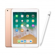 """Apple iPad 9.7"""" (2018) 32GB Wifi with Apple Pencil for iPad Pro (2017) and iPad 9.7 (2018) - Gold (with 1 year official Apple Warranty)"""