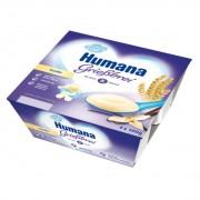 Budinca Humana de gris cu vanilie de la 8 luni 4x100 g