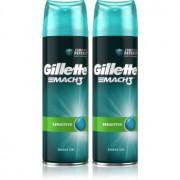Gillette Mach3 Sensitive гел за бръснене с успокояващ ефект за мъже 2 x 200 мл.