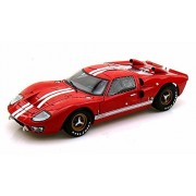 Shelby Collectibles 1966 Ford GT-40 MK II, Red - SC400 1/18 Scale Diecast Model Toy Car