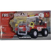 Set de constructie Bibilel pentru copii Masina de pompieri 58 piese BBL1666
