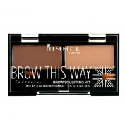 Rimmel London Brow This Way Scuplting Kit 2,4G For Perfect Eyebrows 003 Dark Brown Per Donna (Cosmetic)