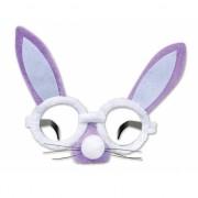 Paarse haas bril met oren en snuit