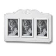 Fleur White 3 Picture 4 x 6 Photo Frames