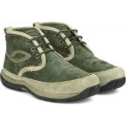 Woodland Mid Ankle Sneakers For Men(Green)