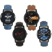 R P S fashion new collation model for combo pack of 4 men watch