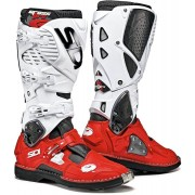 Sidi Crossfire 3 Motocross Boots White Red 50