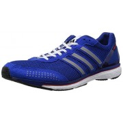 adidas Unisex Adizero Adios Boost 2 Collegiate Royal, Silver Metallic and Footwear White Suede Running Shoes - 10 UK