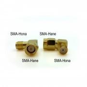 Loh Electronics Adapter SMA-hane till SMA-hona, vinklad