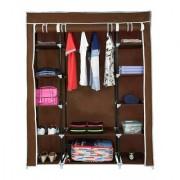 Fab Decorz 3 Door Fancy Portable Foldable Closet Wardrobe Cabinet Portable Multipurpose Storage Organiser DIY (Random)