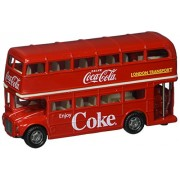 New 1:64 MOTOR CITY CLASSIC COLLECTION - RED COCA-COLA ROUTEMASTER LONDON DOUBLE DECKER BUS Diecast Model Car By Motor City Classics