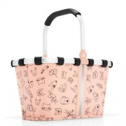 reisenthel Einkaufskorb carrybag XS cats and dogs rose