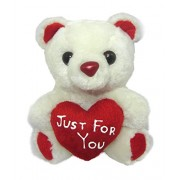 Tickles White Tiny Cute Teddy with Heart Just For You Stuffed Soft Plush Toy Love Girl 13 cm