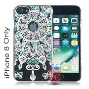 KC Ultra Slim Bright Hard Damask Vintage Design Case Good Quality Material Back Cover for Apple iPhone 8 (Black)