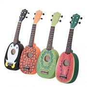 HOT SEAL 21in Cute Pineapple Shape Handmade Carving Dapper Beginners Concerts Ukuleles Uke (Watermelon)