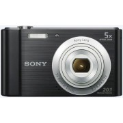 Aparat Foto Sony Cyber-Shot W800, Filmare HD, 20.1 MP, Zoom optic 5x (Negru)
