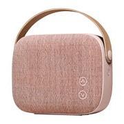 Vifa Enceinte Bluetooth Helsinki / Sans fil - Tissu & poignée cuir - Vifa vieux rose en cuir