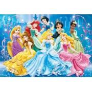 Puzzle Clementoni Culori Stralucitoare Disney Princess 104 Piese