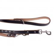 Heim Stars bőr kutyapóráz - 200 cm - 200 cm hosszú, 18 mm széles