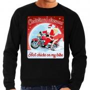 Bellatio Decorations Foute kersttrui voor motorliefhebbers hot chicks zwart heren