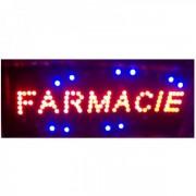Reclama Luminoasa cu LEDuri Rosii 50x25cm Farmacie