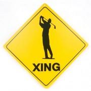 San Diego Gifts Golfer Crossing Signs【ゴルフ その他のアクセサリー>ホーム/オフィス】