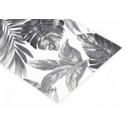 Běhoun na stůl Listí šedé Rozměr ubrusu 40 x 160cm