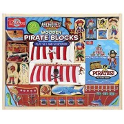 Shure ArchiQuest Wooden Pirate Blocks Play Set & Storybook
