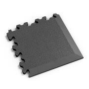 Grafitový vinylový plastový rohový nájezd 2026 (kůže), Fortelock - délka 14 cm, šířka 14 cm a výška 0,7 cm