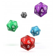 Oakie Doakie Dice D20 Spindown Dice Set Speckled (5)