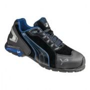 ISM Chaussure de sécurité Rio Black Low T. 44 noir/bleu cuir velours S3 SRC EN ISO 2