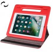 Apple Voor iPad Pro 10.5 inch 360 graden rotatie leergeval + verwisselbare EVA Bumper beschermkap met behandelen & 3 versnellingen houder & slaap / Wake-up(Red)