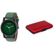 Danzen wrist watch for mens with Red card case -cdz-418