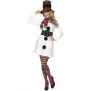 Vegaoo Snögubbsklänning för vuxna - Juldräkt