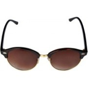 Saugat Traders Oval Sunglasses(Brown)