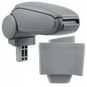 Подлакътник [pro.tec]® AUDI A3 8L с контейнер за съхранение еко кожа, Сив