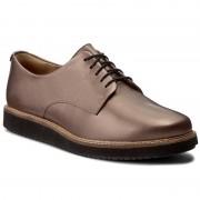 Oxford cipők CLARKS - Glick Darby 261302474 Pewter Darby