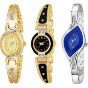 TRUE CHOICE NEW SUPER HIT AND BRANDED LOOK 210 COMBO WATCH FOR WOMEN AND GIRL WITH 6 MONTH WARRNTY