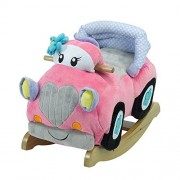Rockabye Carli Convertible Car Rocker, Pink, 24 X 17 X12