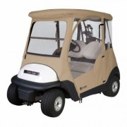 Classic Fairway 2-Person Club Car Precedent Golf Cart Enclosure, Primary Color Beige, Material Polyester, Water Resistant, Model 40-011-012001-00