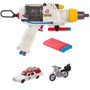 Ghostbusters BOOMco. Sidearm Proton Blaster PLUS Hot Wheels Ghostbusters Ecto-1 and Ecto-2 Diecast Vehicle 2-Pack