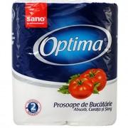 Sano Optima, Prosop bucatarie, 2 role hartie/set, 22,4 x 24cm, 2 straturi, 12m/Rola