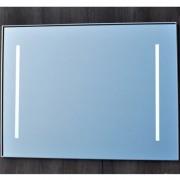 Badkamerspiegel Qmirrors Sanicare 65x70x3.5 Geïntegreerde LED Verlichting Omlijsting Chroom