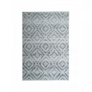 Tapijt Florence blokken - grijs - 200x290 cm - Leen Bakker