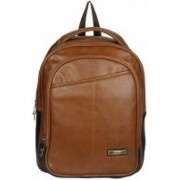 HANDCUFFS Genuine Leather Trendy Rust Color Backpack Bag for Men for Daily Use Waterproof Backpack(Brown, 20 L)