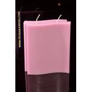 Candles by Milanne Adamo Kaars met 2 pitten, GLANS LILA, hoogte: 17 cm - kaarsen