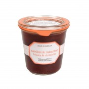 Confiture extra, fraises & rhubarbe, 320 g