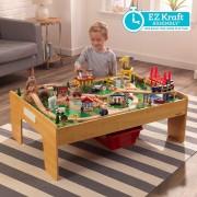 Kalandváros vonatszett asztallal - Kidkraft- könnyû összeállítás
