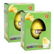 Magic Growing Surprise Chicken Pet Hatching Egg Kids Toy Pack of 2