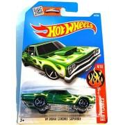 Hot Wheels, 2016 Hw Flames, 69 Dodge Coronet Superbee [Green] Die Cast Vehicle #94/250